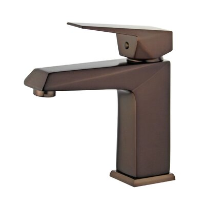 Valencia Single Hole Single Handle Bathroom Faucet with Drain Assembly Finish: Oil Rubbed Bronze