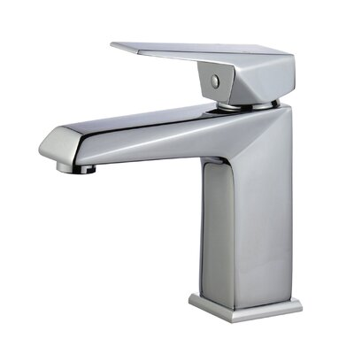 Valencia Single Hole Single Handle Bathroom Faucet with Drain Assembly Finish: Polished Chrome