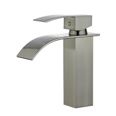 Santiago Single Handle Bathroom Faucet with Drain Assembly Finish: Brushed Nickel