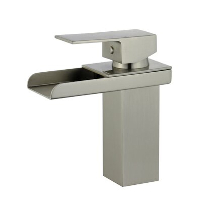 Pamplona Single Handle Bathroom Faucet with Drain Assembly Finish: Brushed Nickel