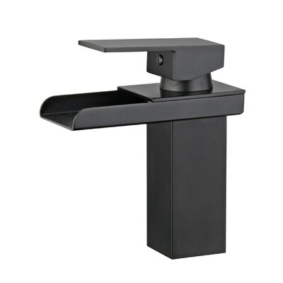Pamplona Single Handle Bathroom Faucet with Drain Assembly Finish: New Black