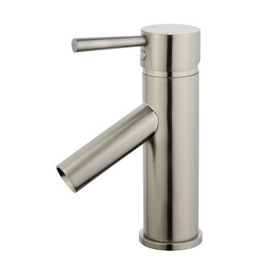 Malaga Single Handle Bathroom Faucet with Drain Assembly Finish: Brushed Nickel
