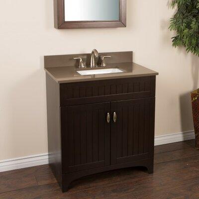 32 Single Bathroom Vanity Set Top Finish: Taupe