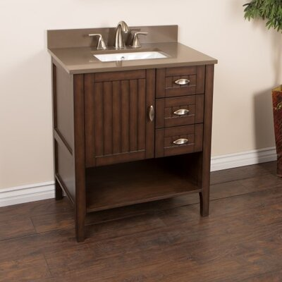 30 Single Bathroom Vanity Set Top Finish: Taupe