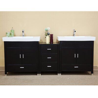 Ramsey 81 Double Bathroom Vanity Set