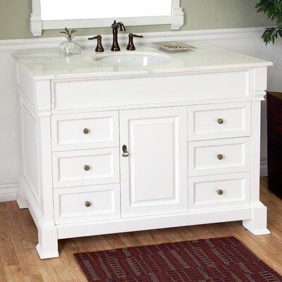 Habersham 50 Single Bathroom Vanity Set Base Finish: White