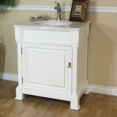 Tremont 30 Single Bathroom Vanity Set Base Finish: White
