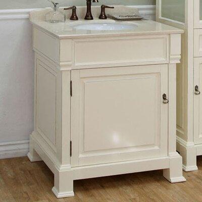 Tremont 30 Single Bathroom Vanity Set Base Finish: Cream White