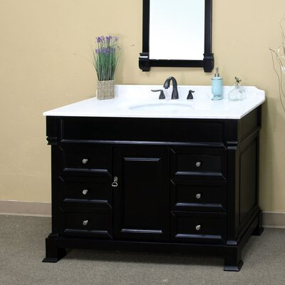 Kendall 60 Single Bathroom Vanity Set Base Finish: Espresso