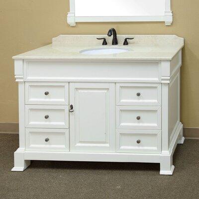 Habersham 50 Single Bathroom Vanity Set Base Finish: Cream White