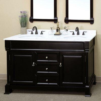 Halliday 60 Double Bathroom Vanity Set Base Finish: Espresso