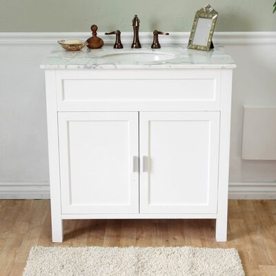 Jameson 36 Single Bathroom Vanity Set Base Finish: White