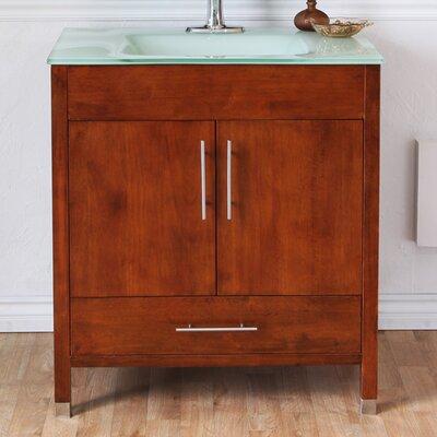 Ewing 33 Single Bathroom Vanity Set Base Finish: Medium Walnut