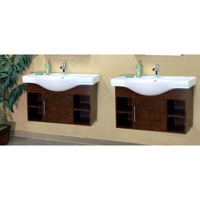 Langdon 81 Double Bathroom Vanity Set