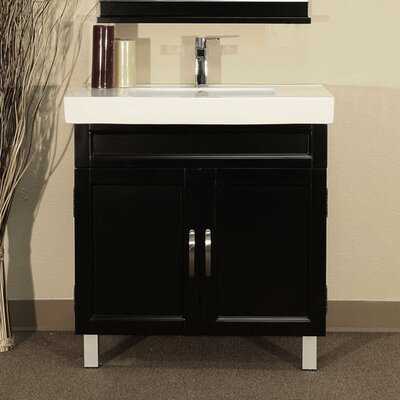Chapman 32 Single Bathroom Vanity Set Base Finish: Black