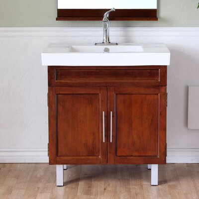 Chapman 32 Single Bathroom Vanity Set Base Finish: Medium Walnut