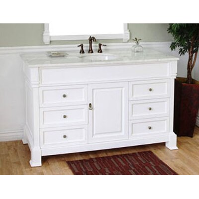 Kendall 60 Single Bathroom Vanity Set Base Finish: White