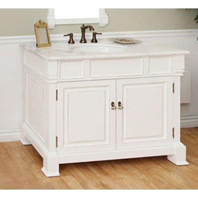 Osgood 42 Single Bathroom Vanity Set Base Finish: White
