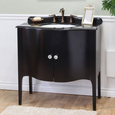 Colfax 37 Single Bathroom Vanity Set Base Finish: Black