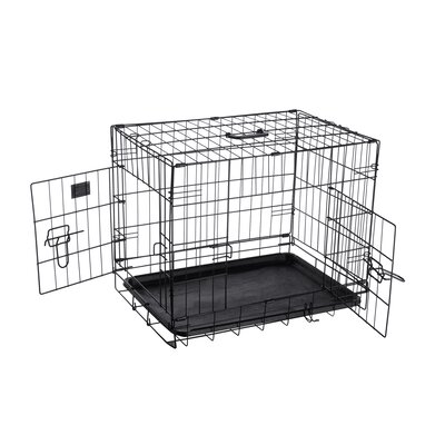 Folding Pet Crate Kennel Wire Cage Size: 16 H x 19.5 W x 23.5 L