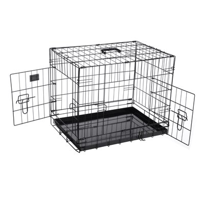 Peyton Folding Pet Crate Kennel Wire Cage Size: 22 H x 25.5 W x 35 L
