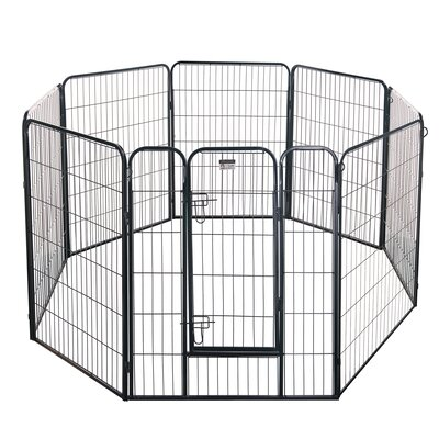 32 Heavy Duty Dog Exercise Pen Size: 40 H x 256 D