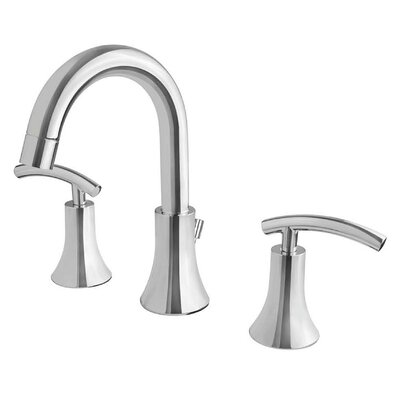 Contemporary Double Handle Widespread Bathroom Faucet Finish: Chrome