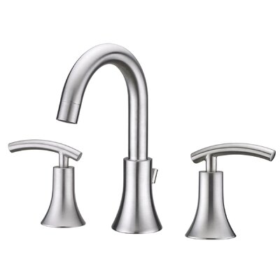 Contemporary Double Handle Widespread Bathroom Faucet Finish: Brushed Nickel