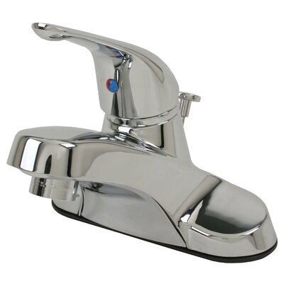 Single Handle Centerset Lavatory Faucet with Drain Assembly Finish: Chrome