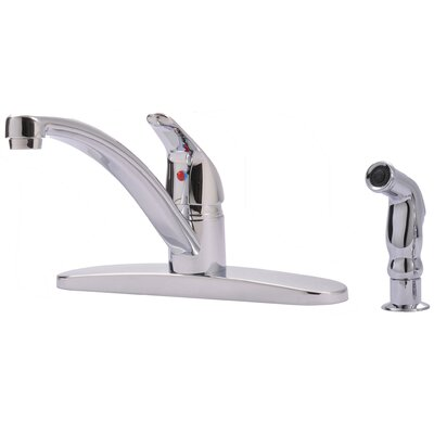 Single Handle Pull Out Kitchen Faucet with Side Spray