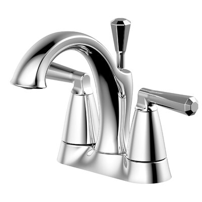 Double Handle Centerset Lavatory Faucet with Drain Assembly Finish: Chrome