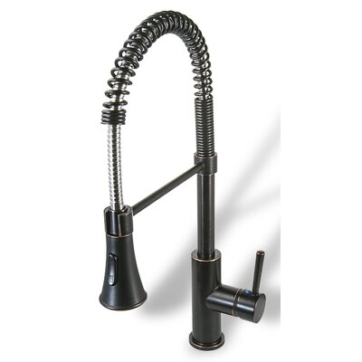 Prime Single Handle Pull Down Kitchen Faucet with Spray Finish: Oil Rubbed Bronze