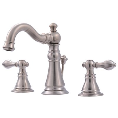 Widespread Bathroom Faucet with Double Handles Finish: Brushed Nickel