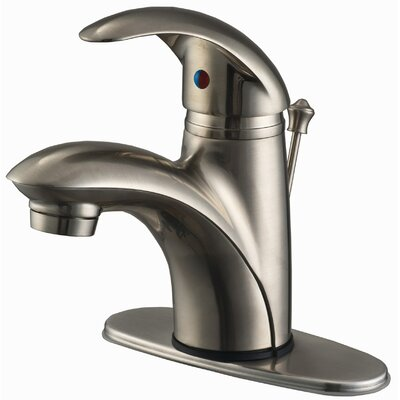 Single Hole Bathroom Faucet with Single Handle Finish: Brushed Nickel