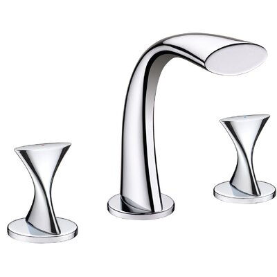 Double�Handle�Bathroom�Widespread�Faucet Finish: Chrome
