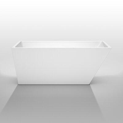 Hannah 59 x 29.5 Soaking Bathtub Finish: Brushed Nickel
