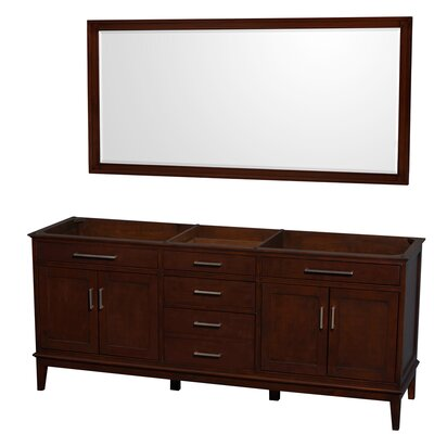 Hatton 78.5 Double Bathroom Vanity Base Base Finish: Dark Chestnut