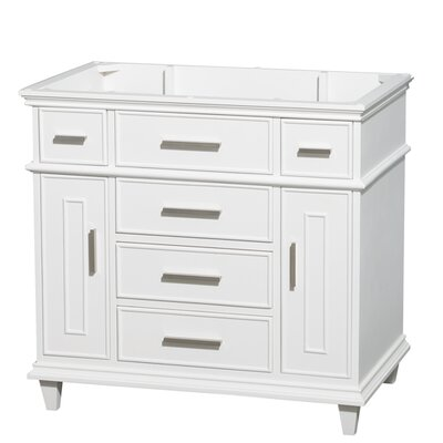 Berkeley Single Vanity Base Base Finish: White