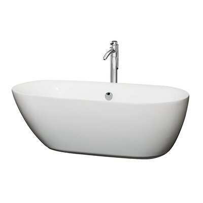 Melissa 65 x 31 Soaking Bathtub Finish: Chrome