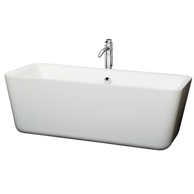 Emily 69 x 30 Soaking Bathtub Finish: Chrome