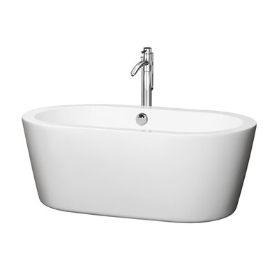Mermaid 59.75 x 29.25 Soaking Bathtub Finish: Chrome