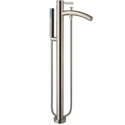 Laura 58.75 x 27.38 Soaking Bathtub Finish: Brushed Nickel