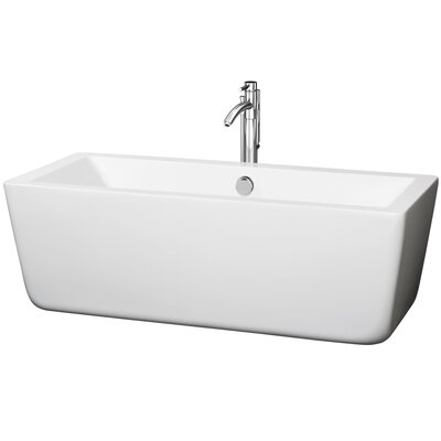 Laura 67 x 29 Soaking Bathtub Finish: Chrome