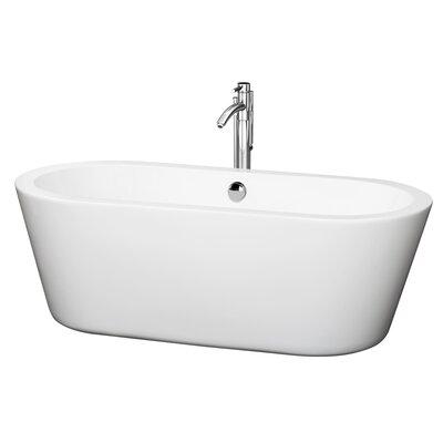 Mermaid 67 x 31.25 Soaking Bathtub Finish: Chrome