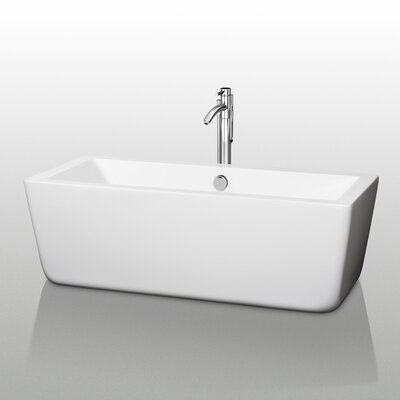 Laura 58.75 x 27.38 Soaking Bathtub