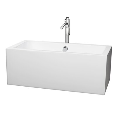 Melody 59.5 x 29.5 Soaking Bathtub Finish: Chrome
