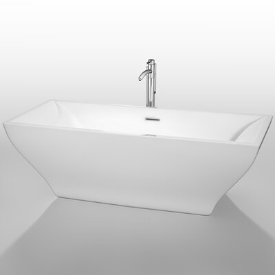 Maryam 70.75 x 31.25 Soaking Bathtub