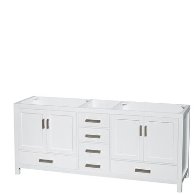 Sheffield 80 Double Bathroom Vanity Base Base Finish: White