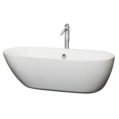 Melissa 71 x 33 Soaking Bathtub Finish: Chrome