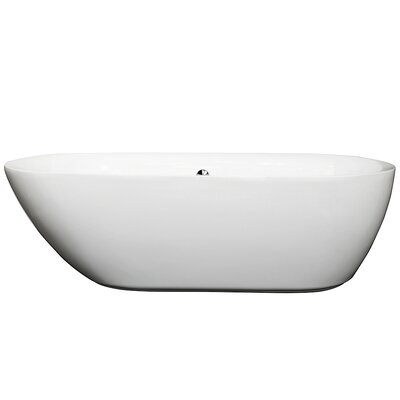 Melissa 70.75 x 32.5 Soaking Bathtub